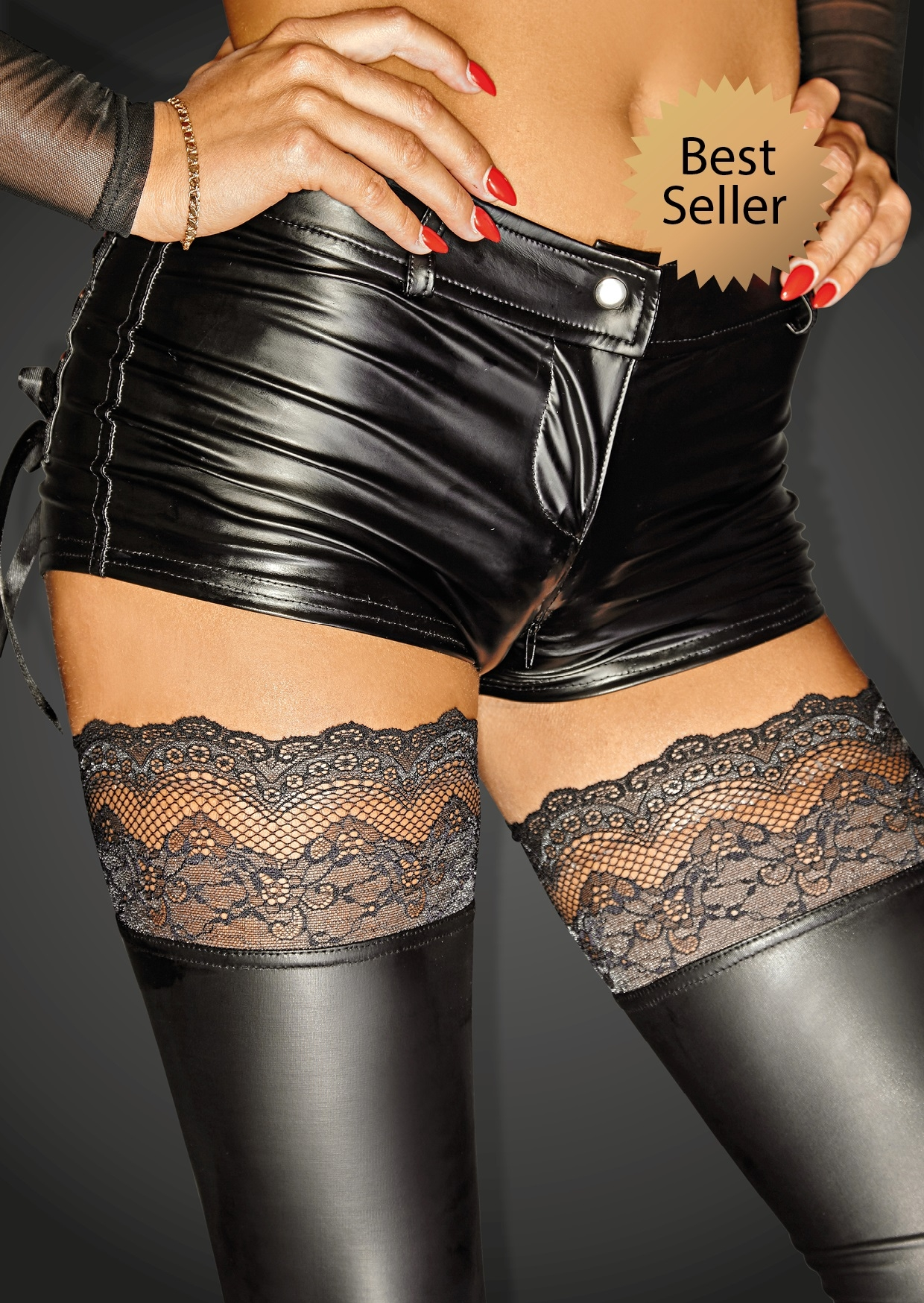 Noir SELFISH Power Wetlook Shorts